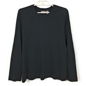 Additions by Chico's Black Long Sleeve Tee 2/Large